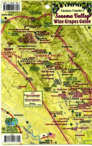 (Sonoma Valley Wine Grapes Map & Guide Franko Maps Laminated Card)