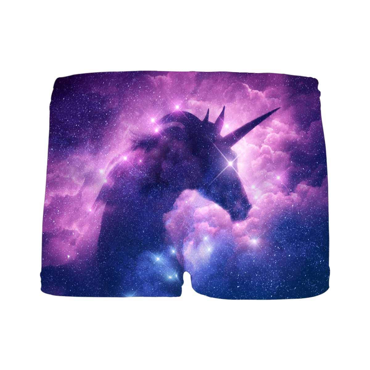 5T-2XL INTERESTPRINT Boys Unicorn in Galaxy Nebula Cloud ComfortSoft Printed Boxer Briefs