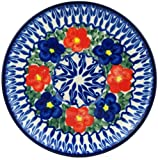 Polish Pottery Saucer 5-inch Floral Burst