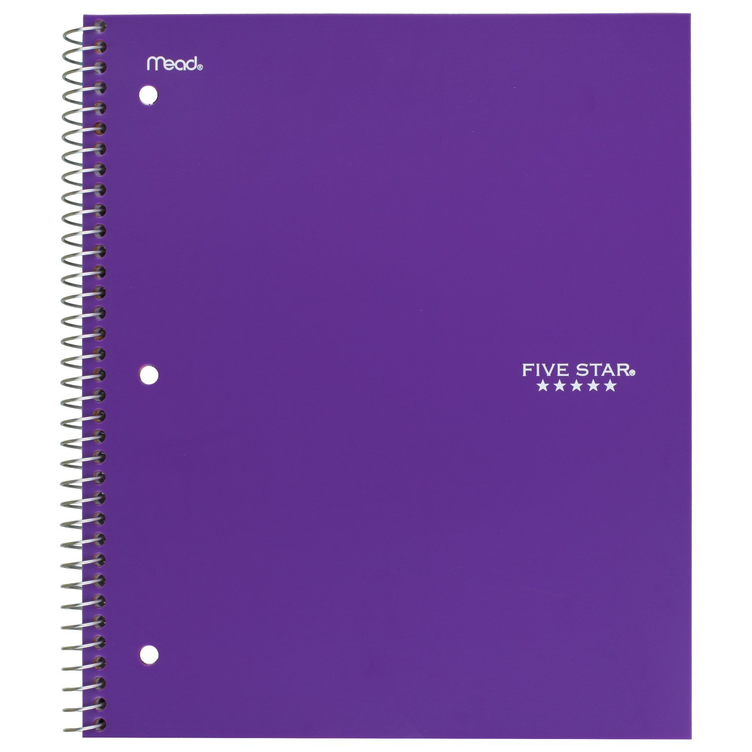 Five Star Spiral Notebooks, 1 Subject, Graph Ruled Paper, 100 Sheets, 11'' x 8-1/2'', Assorted Colors, 6 Pack (73549) by Five Star (Image #7)