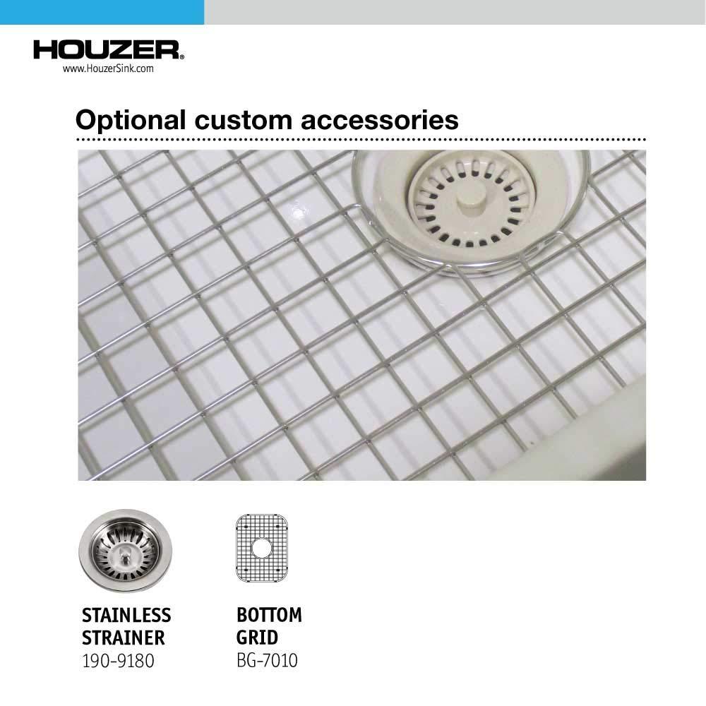 Houzer PTB-1318 WH Fireclay Bar Sink White by HOUZER (Image #7)