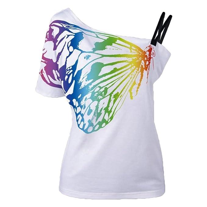 MINGBOO Mujer Blusas Camisas Para Damas Camisa Manga Corta Camiseta Señora Camisetas De Verano Casual Degradado