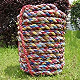 BAI-Fine Competition Rope Adult Child Tug of War Cloth Rope Kindergarten Camping Rope Garden Boating Multi Purpose Utility Rope (Size : 10m26mm)