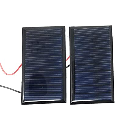 AMX3d 2X 5V 60mA 68x37mm Micro Mini Power Solar Cells for Solar Panels - DIY Projects - Toys - 3.6V Battery Charger (2 pcs) : Garden & Outdoor