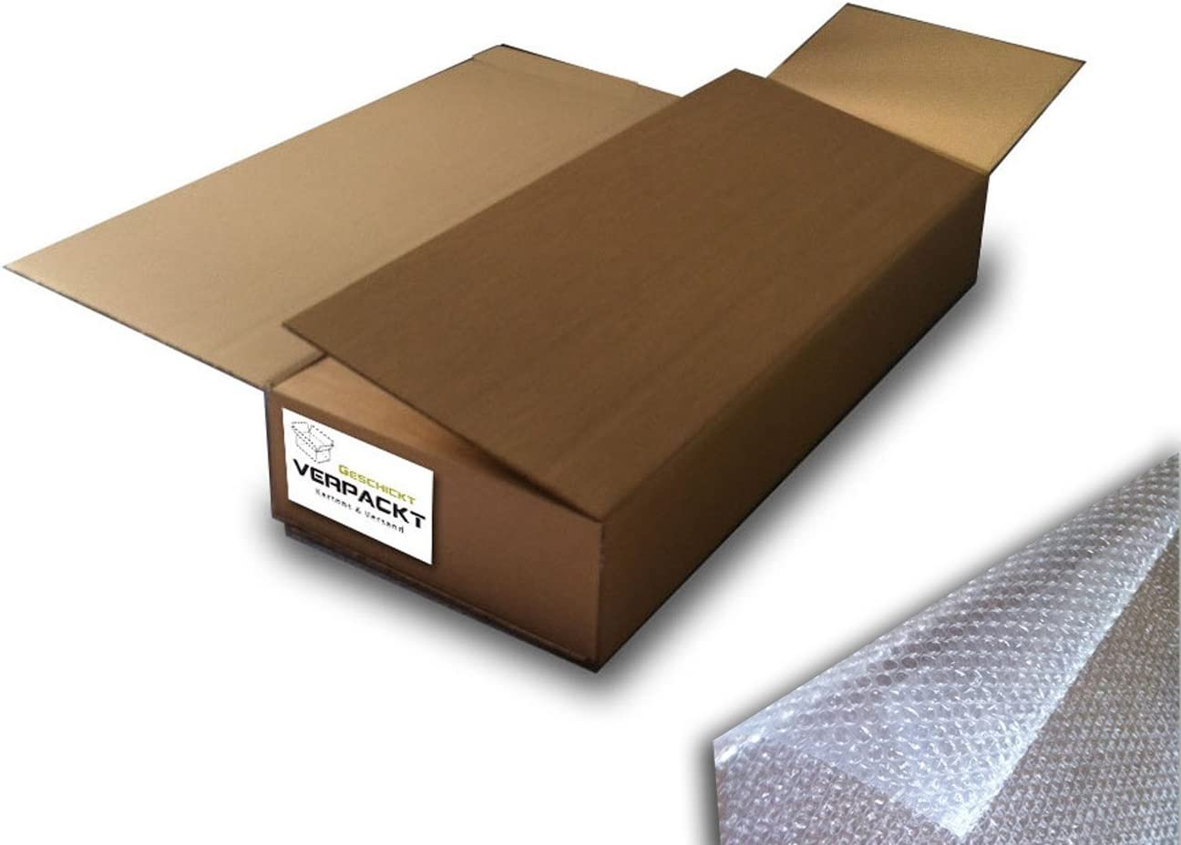 Guitarra cartón 1194 x 489 x 205 mm Plus de burbujas 4 m 120 cm de ancho: Amazon.es: Oficina y papelería