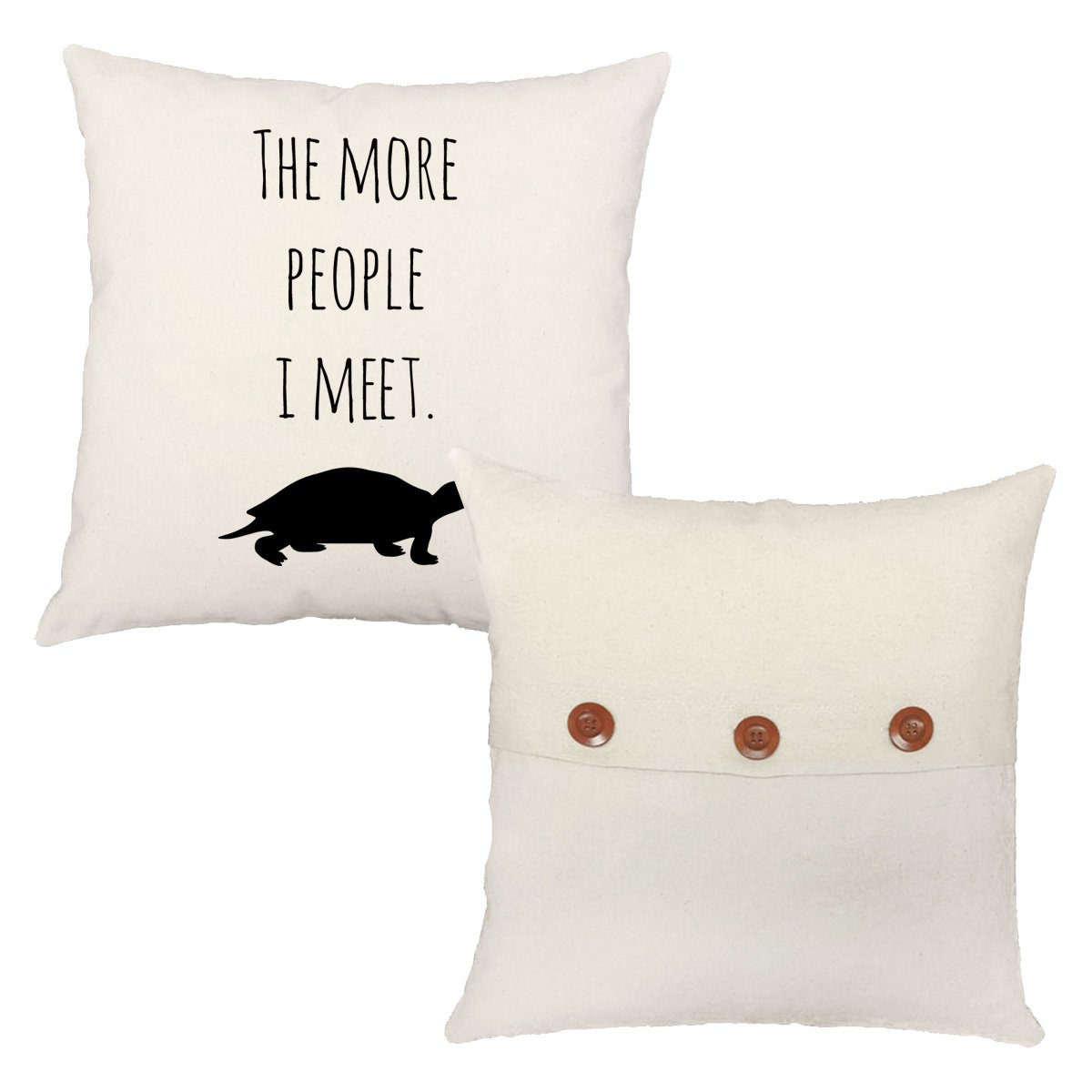 Set of 2 RoomCraft I Love My Turtle Throw Pillows 20x20 Square Red Cotton Cushions by RoomCraft (Image #5)