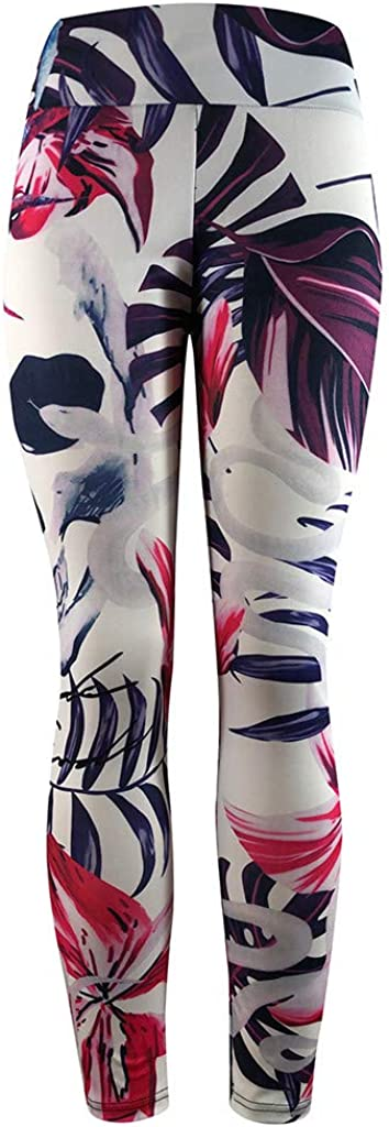 Workout Leggings Pants-Dry Fit Extra Soft MoonHome High Waisted Skull Printed Yoga Leggings for Women