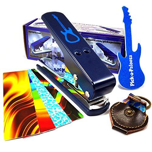 Pick-a-Palooza DIY Guitar Pick Punch with Leather Key Chain Pick Holder - Blue by Pick-A-Palooza (Image #2)