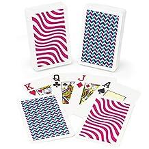 Copag GCOP-1102 Neo Wave 100-Percent Plastic Playing Cards, Bridge Size, Jumbo Index