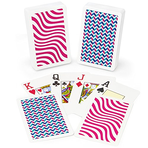 Copag Neo Wave 100% Plastic Playing Cards, Bridge Size, Jumbo Index Copag Bridge Cards