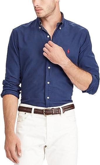 Ralph Lauren Men's Solid Classic Oxford Shirt at Amazon Men's ...