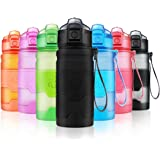 ZORRI Sport Water Bottle for Kids, 400ml/500ml/700ml/1L- Bpa Free Eco-Friendly Tritan Plastic, Reusable Drinks Water Bottles with Filter, Leak Proof Flip Top, Open with 1-Click - for Gym,Yoga,Running