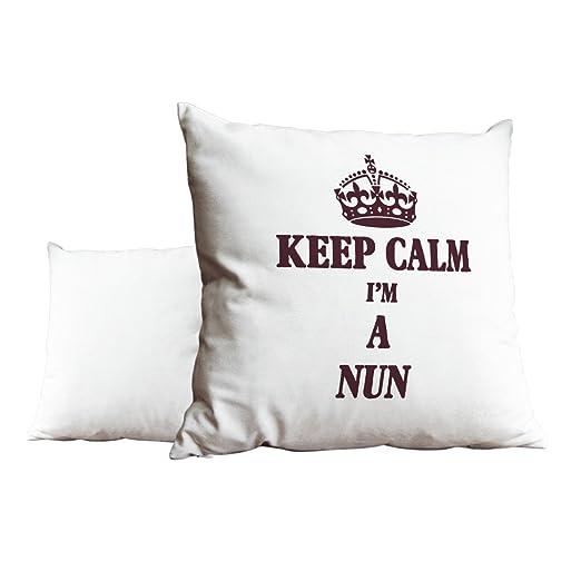 Rojo KEEP CALM I m una monja blanco Scatter pillow 2390 ...