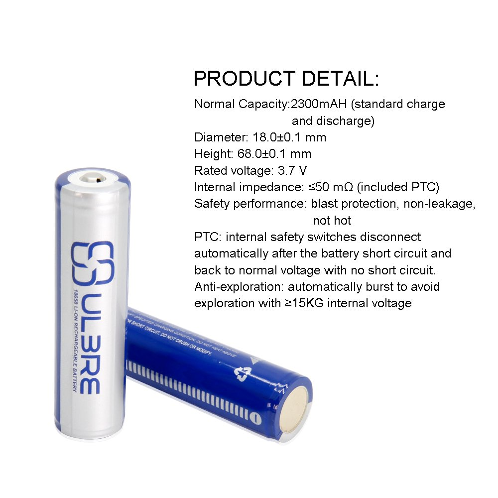 Ulbre Protective 18650 Rechargeable Batteries With Nonrechargeble Battery Diagram Electronics