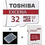 東芝 Toshiba 超高速UHS-I microSDHC 32GB + SD アダプター + 保管用クリアケース [並行輸入品]