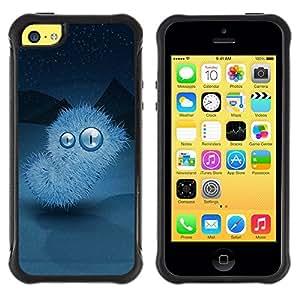 Suave TPU GEL Carcasa Funda Silicona Blando Estuche Caso de protección (para) Apple Iphone 5C / CECELL Phone case / / Winter nights Monster /