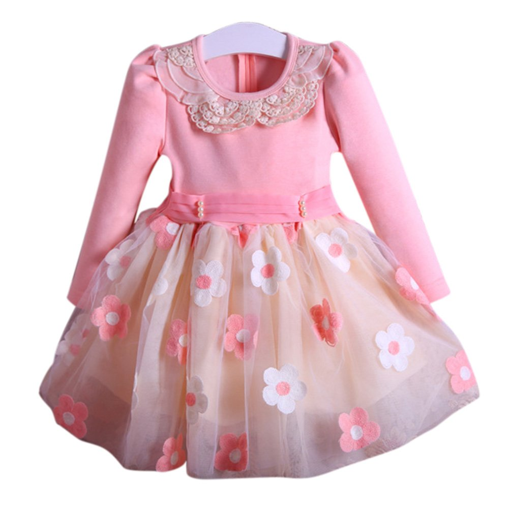 Gprince Girls Clothing Princess Dress Velvet Lined Dress Warm Clothes Kids Outfits
