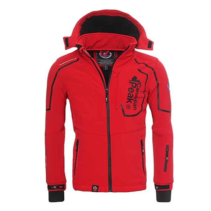 Canadian Peak by Geographical Norway - Chaqueta de forro polar para exterior, color rojo, tamaño S: Amazon.es: Ropa y accesorios
