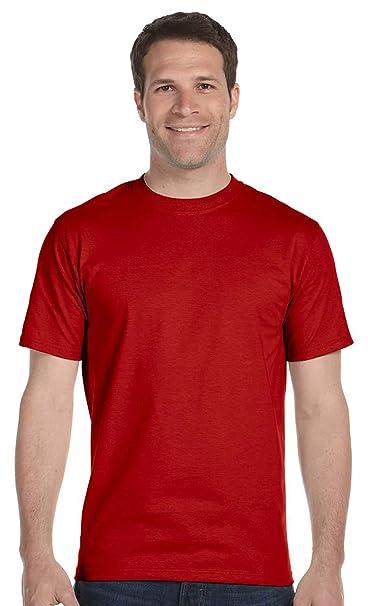 cd20f054 Hanes mens 6.1 oz. Beefy-T Tall(518T)-BLACK/DEEP RED-XLT-2PK | Amazon.com