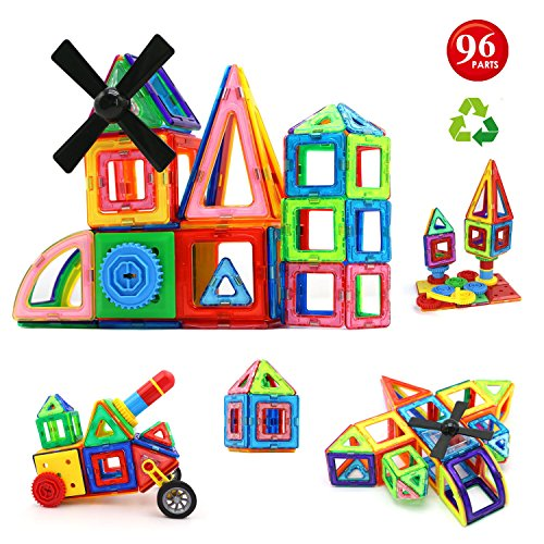 Childrens Toys Blocks (Children Hub 96pcs Magnetic Building Blocks Set: Educational Toys For)