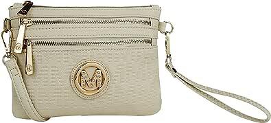 MKF Crossbody Bags for Women - Removable Adjustable Strap Handbag Wristlet - Small Vegan Leather Messenger Purse
