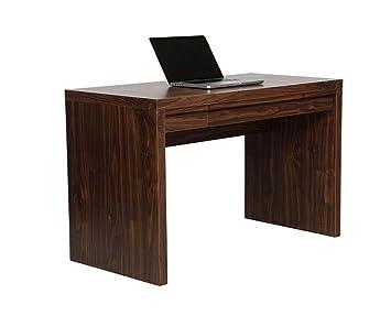 Tribeca Walnut Desk Home Office Storage Drawer Computer Workstation