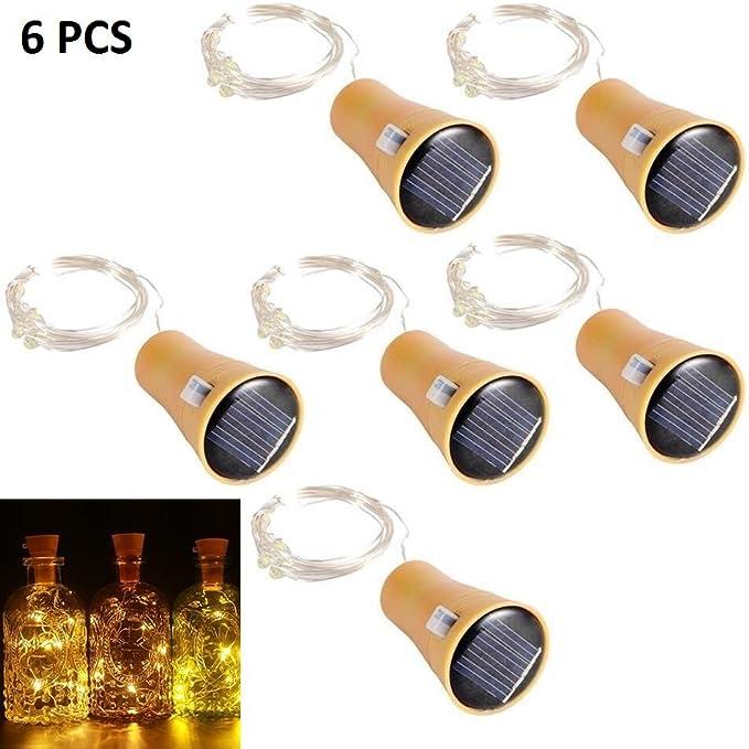 Lot de 10 guirlandes lumineuses /à LED blanc chaud 2M Bouteilles LED Lumi/ère Fil de Cuivre Cork Forme de la LED Nuit Bouteille de Vin Mariage Party D/écoration romantique pour Bouteille Blanc Chaud