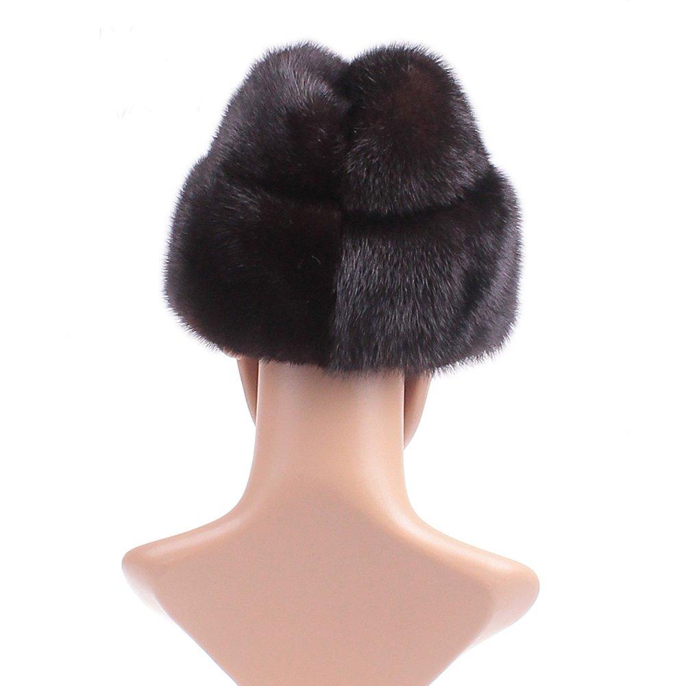Dikoaina Men's Whole Set Mink Full Fur Russian Cossack Hat Large Black by Dikoaina (Image #4)