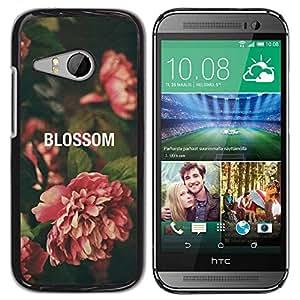 Paccase / SLIM PC / Aliminium Casa Carcasa Funda Case Cover para - Begonia Vignette Green Nature - HTC ONE MINI 2 / M8 MINI
