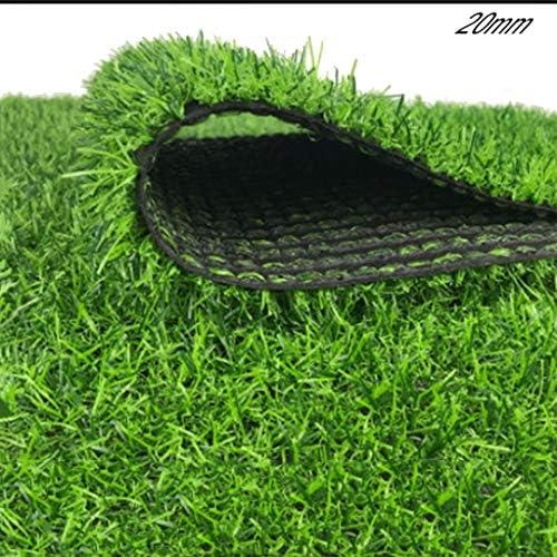 YNFNGXU 緑の人工芝20mmパイル高環境保護屋外の屋上庭は、プラスチック芝生をきれいにするのが簡単です(2 * 1m) (Size : 2x9m)
