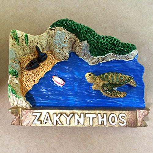 Greece Zakynthos Careta Careta 3D Poly Resin Fridge for sale  Delivered anywhere in USA