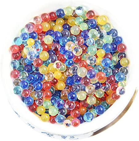 Elongdi Water Beads Pack Rainbow Mix 50000 Beads Growing Balls Jelly Water Gel Beads for Spa Refill