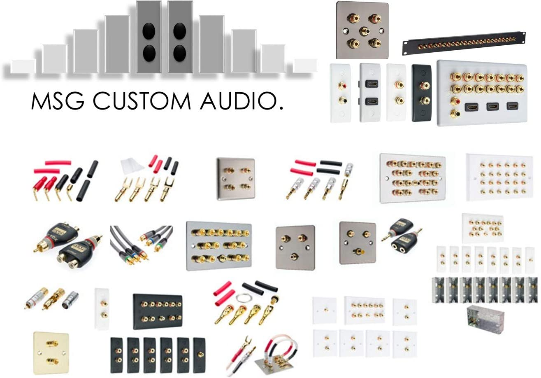 Placa de Pared para Altavoz con Sonido Envolvente Conector RCA, no Requiere Soldadura 5.2
