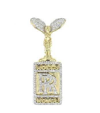 73399cd49654f Amazon.com: Midwest Jewellery 10K Gold Rolls Royce Custom Diamond ...