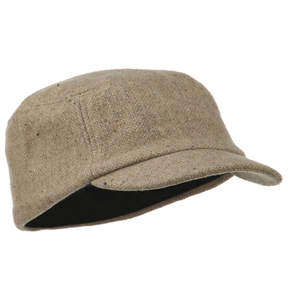 MG Wool Fashion Fitted Engineer Cap-Khaki