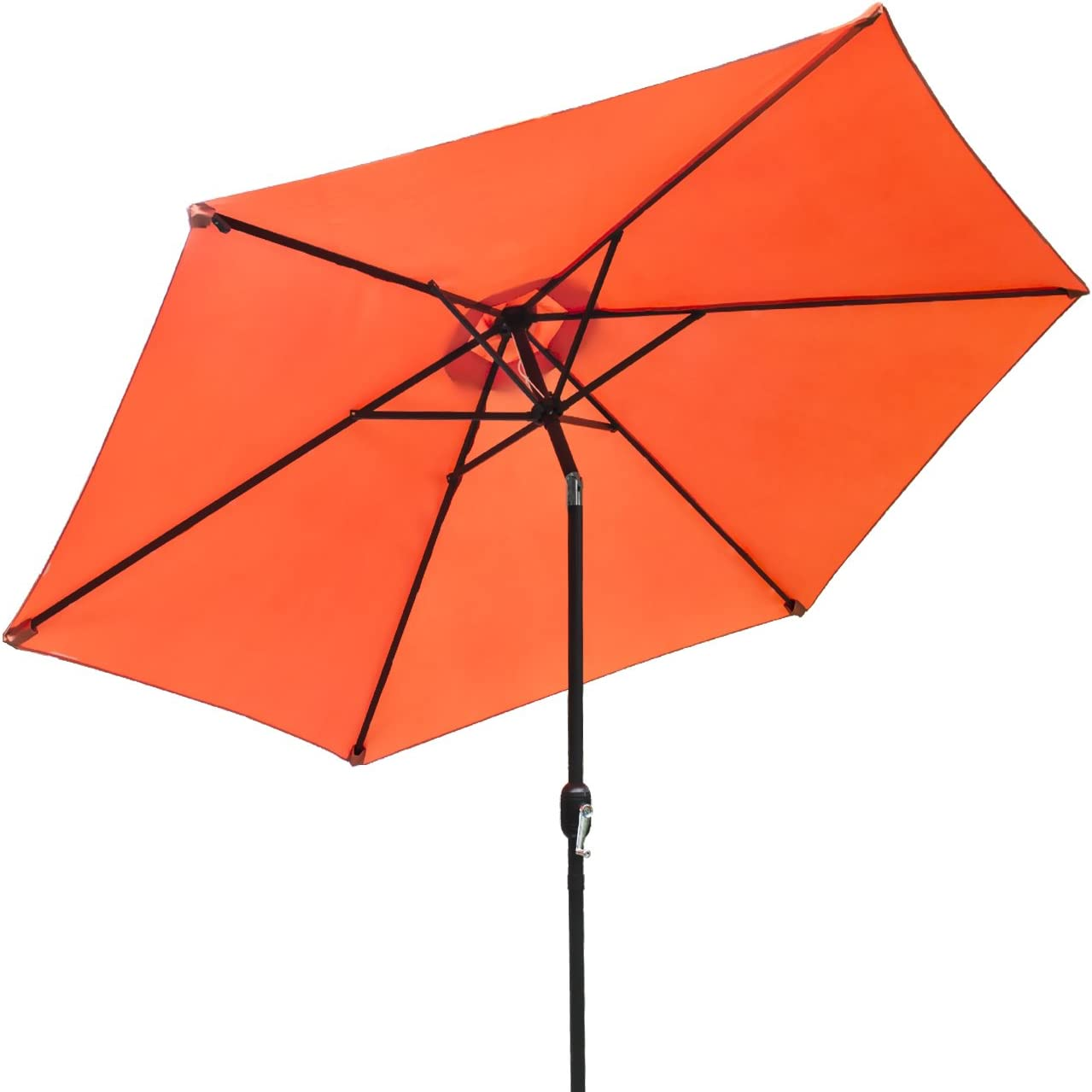 Sorbus Outdoor Umbrella, 10 ft Patio Umbrella with Tilt Adjustment and Crank Lift Handle, Perfect for Backyard, Patio, Deck, Poolside, and More Orange