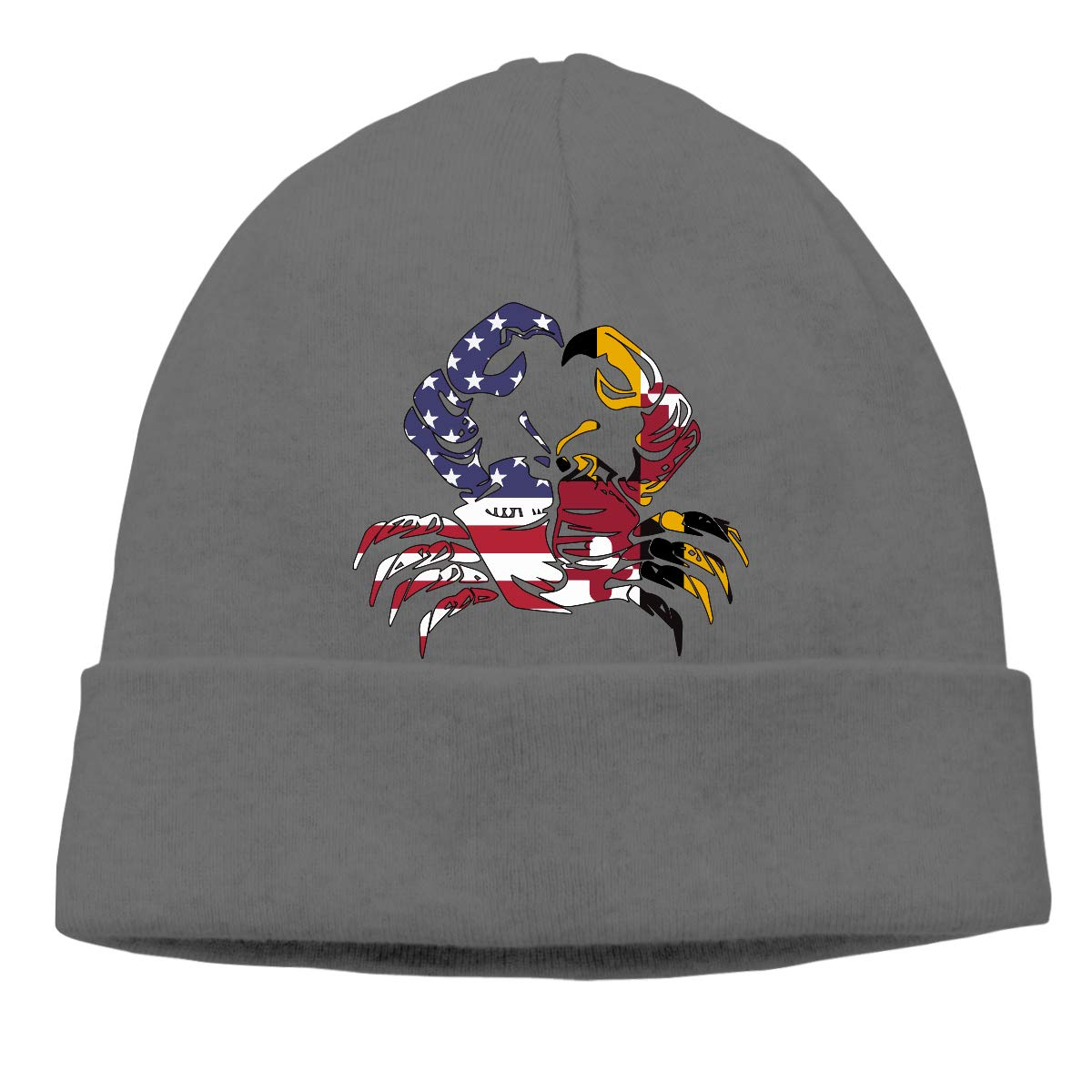 GDSG5/&4 America Maryland Flag Crab Men//Women Sweat Wicking Cycling Skull Cap