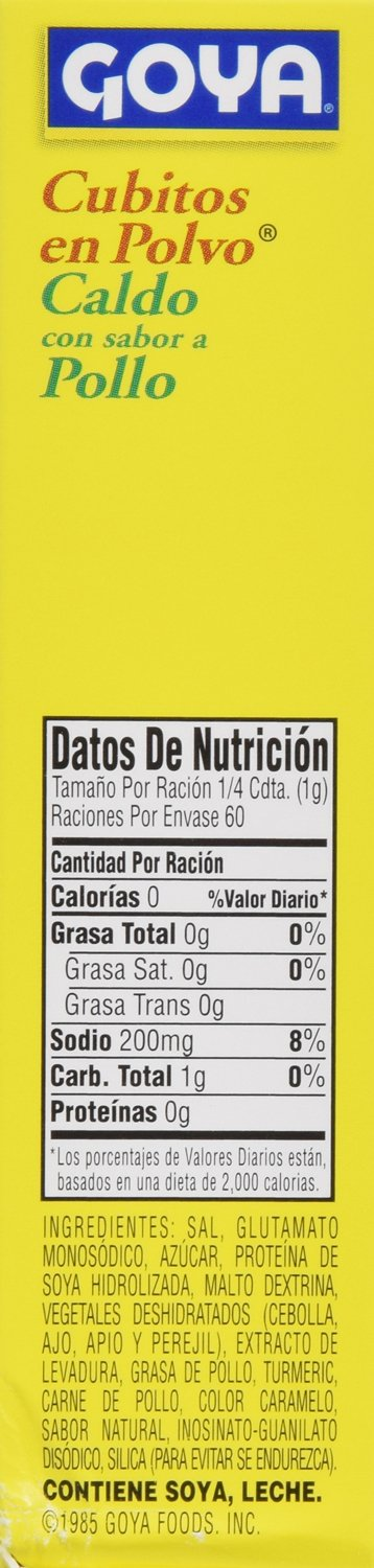 Goya Foods Cubitos Polvo Chicken Economy Pack (Powdered Chicken Bouillion), 7.05-Ounce (Pack of 18)