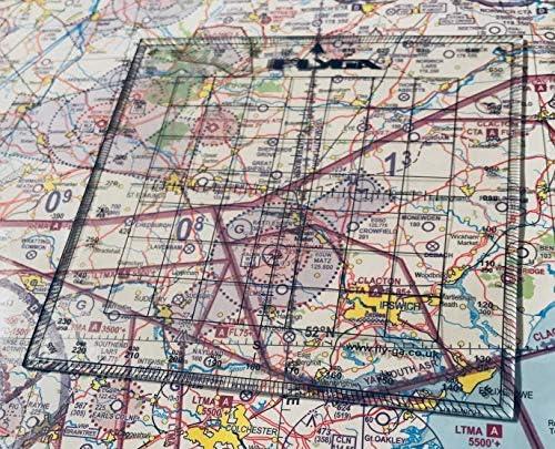 Fly GA - Transportador de navegación de mapas, diseño cuadrado ...