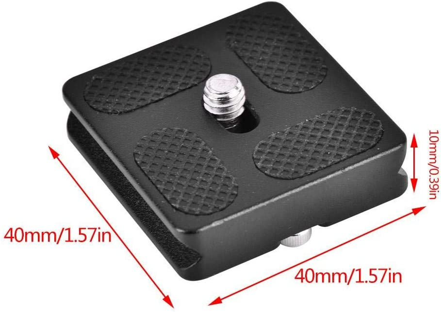 Mugast 1//4 Mount Universal Quick Release Plate Compatible with All Standard Tripod Ballhead PU60 Camera Fixing Support 40mm // 50mm // 60mm // 70mm // 100mm