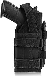 CS Force Tactical Universal Pistol Holster Adjustable Gun Holster Belt Holster for Right Handed Shooters 1911 45 92 96 Glock 19 Sig P228 Heckler&Koch USPCZ P-10C