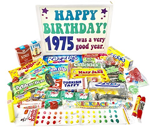 Woodstock Candy 1975 43rd Birthday Gift Box - Retro Nostalgic Candy from Childhood for 43 Year Old Man or (1975 Candy)