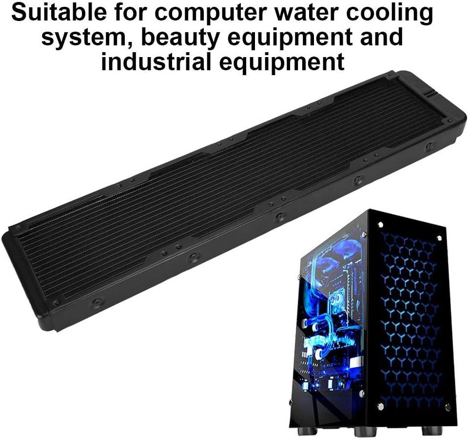ASHATA Water Cooling Radiator 18-Tubes Black Aluminium Alloy Heat Exchanger Computer Accessories Computer Water Cool System Heat Exchanger Radiator for Heat Radiation,Heat Exchange
