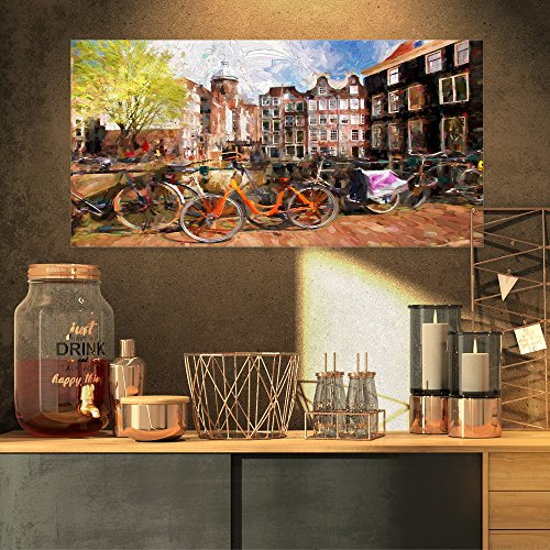 Amsterdam City Artwork Landscape on Canvas Art Wall Photgraphy Artwork ()