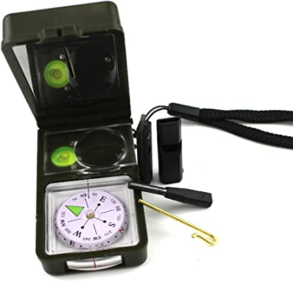 Pocket Emergency Compass Waterproof Reflective Tool for Hiking Backpacking