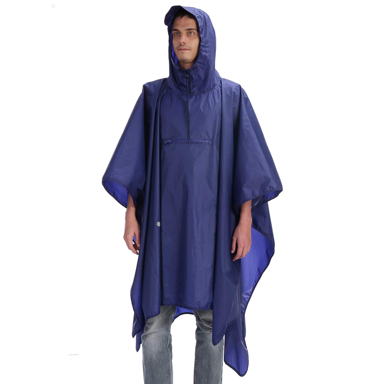 Andake High Waterproof Rain Poncho TPU 8000 MM, Multi-Functional Rain Poncho