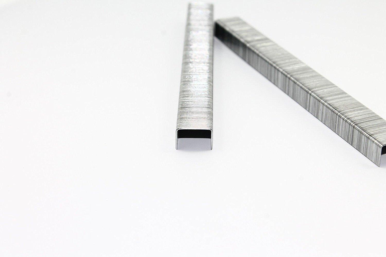 Ma/ße 6//11,4 verzinkt//Heftklammern//Tacker-Klammern L/änge: 6 mm Breite: 11,4 mm 5000 Tackerklammern Typ 53