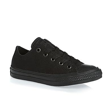 329e2d1f536809 Converse Kids Unisex Chuck Taylor All Star II Ox (Little Kid) Black Black