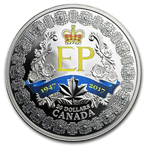 2017 CA Canada 1 oz Silver $20 A Platinum Celebration 1 OZ Brilliant Uncirculated