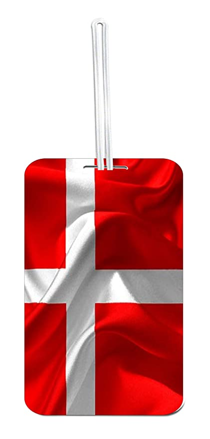 Amazoncom Denmark Waving Flag Print Design School Bag Tag With